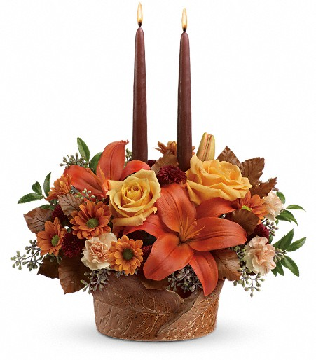 Wrapped In Autumn Centerpiece